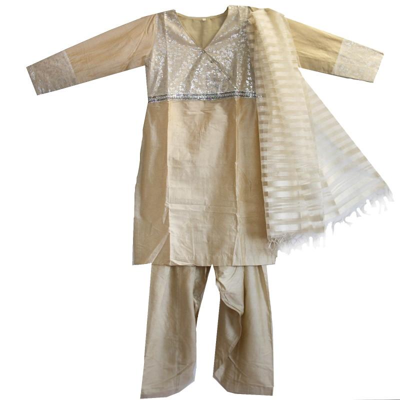 Salwar Kameez Kleid Hose Schal 36 38 M Bollywood Sari Kostüm Indien ...