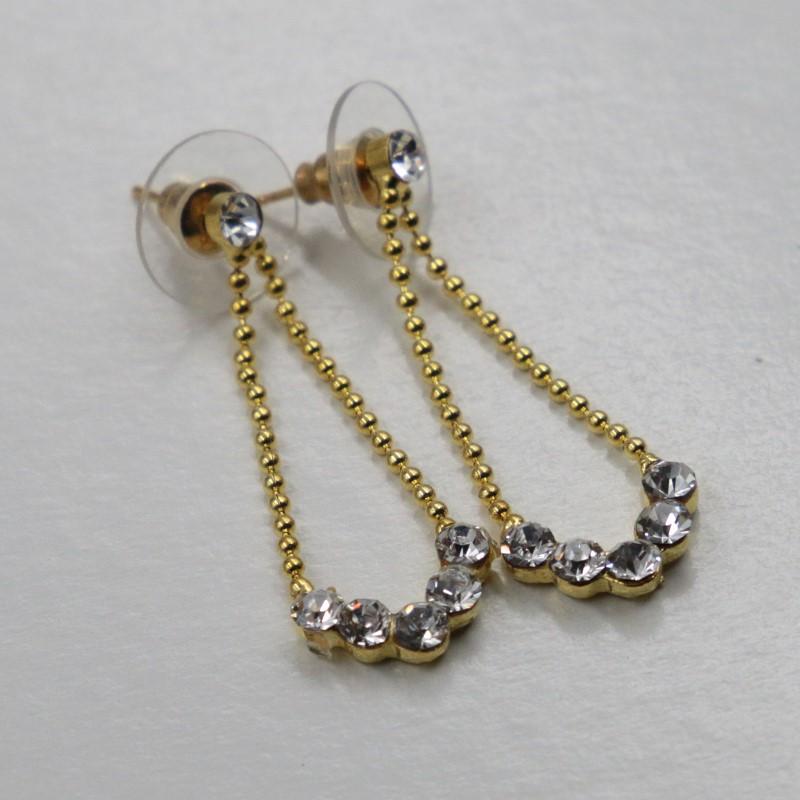Schmuckset joyas aretes cadena Collier pedrería oro novia joyas fiesta joyas