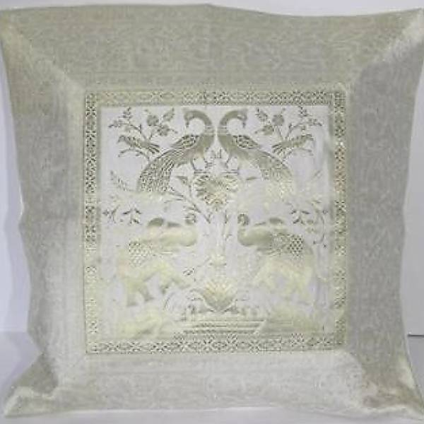 kissenh lle kissen 40 x 40 cm orient dekokissen brokat elefanten indien gold ebay. Black Bedroom Furniture Sets. Home Design Ideas