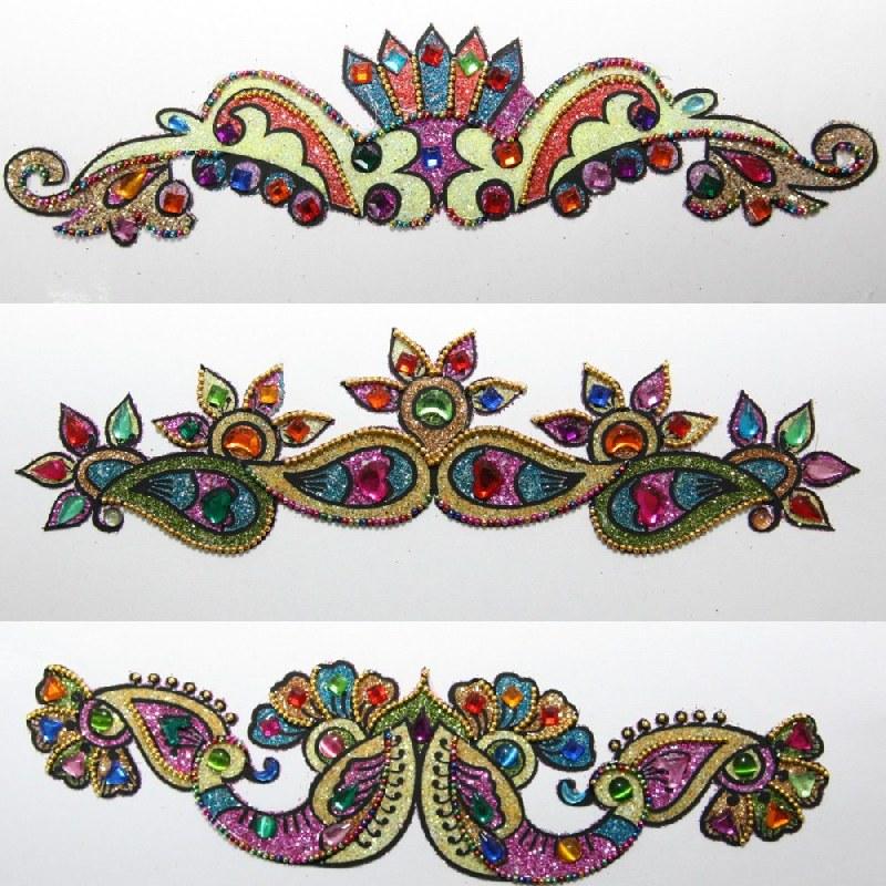 strass sticker body art glitzernd indien tattoo selbstklebend hippie bollywood ebay. Black Bedroom Furniture Sets. Home Design Ideas