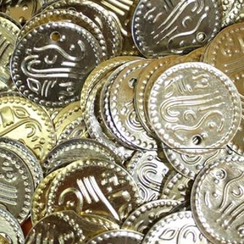 Münzen Gold Bastelmünzen Bauchtanz Deko Basteln Perlen Metall 20mm