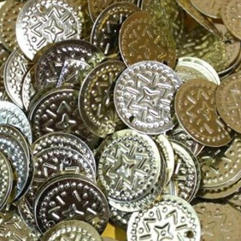 Münzen Gold Bastelmünzen Bauchtanz Deko Basteln Perlen Metall 15mm