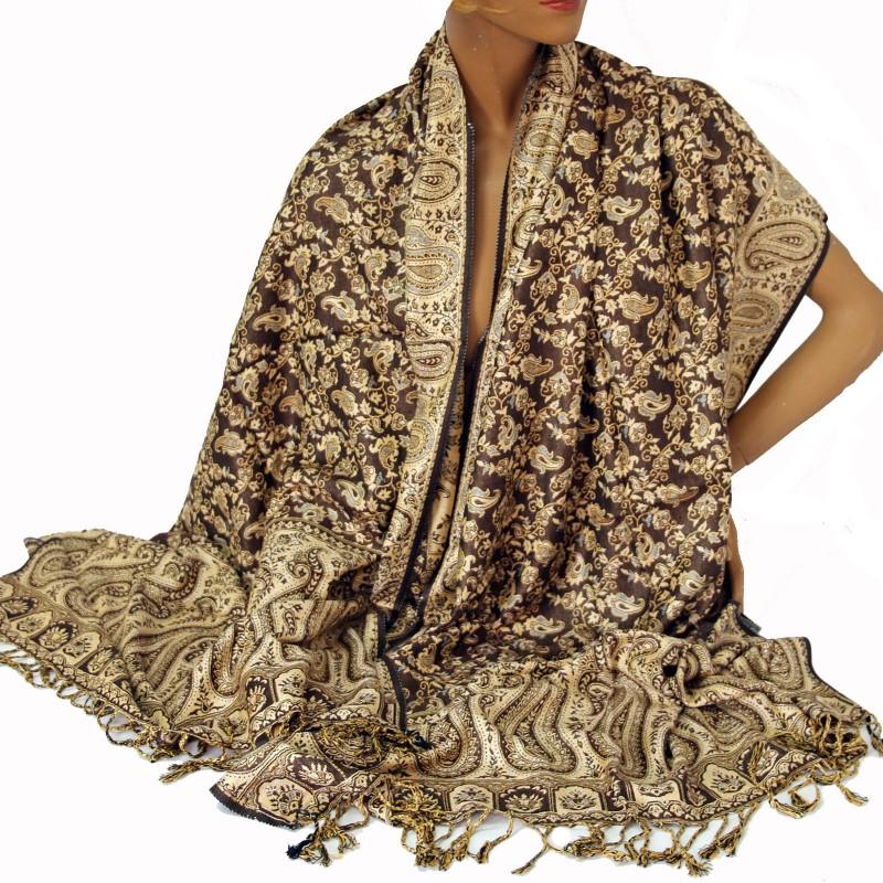 Schal Langschal warmer Damenschal Orient weicher Jamawar Viskose  ts 1