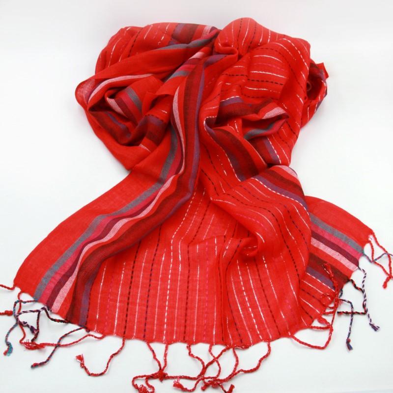 Schal Damenschal 180x55cm Farbharmonie Langschal Indien Ethno Tuch Viskose  LUR