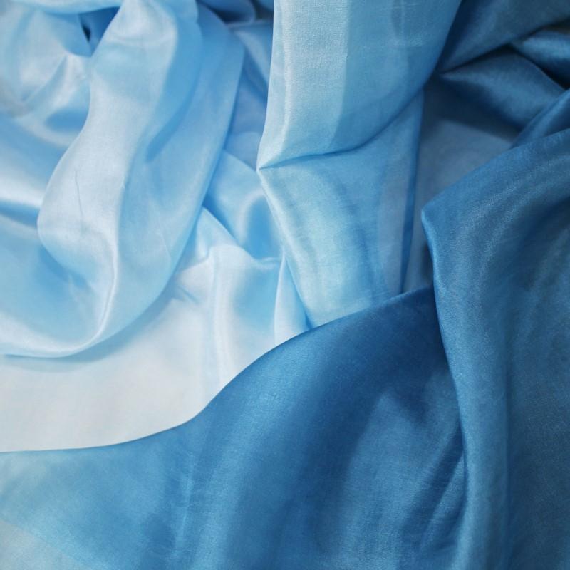 Schal Seidenschal Damenschal Reine Seide 100/%  220x120 Handrolliert Blau Petrol