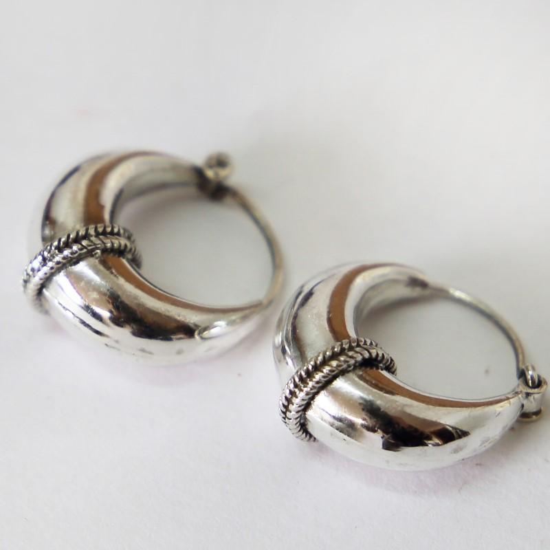 Creolen Ohrringe Silber 925 Echt Sterlingsilber 2cm groß Ohrschmuck Vintage HTS