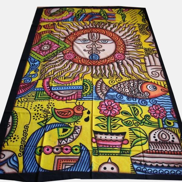 tagesdecke dekotuch summertime wandbehang indien goa einzelbett single ebay. Black Bedroom Furniture Sets. Home Design Ideas