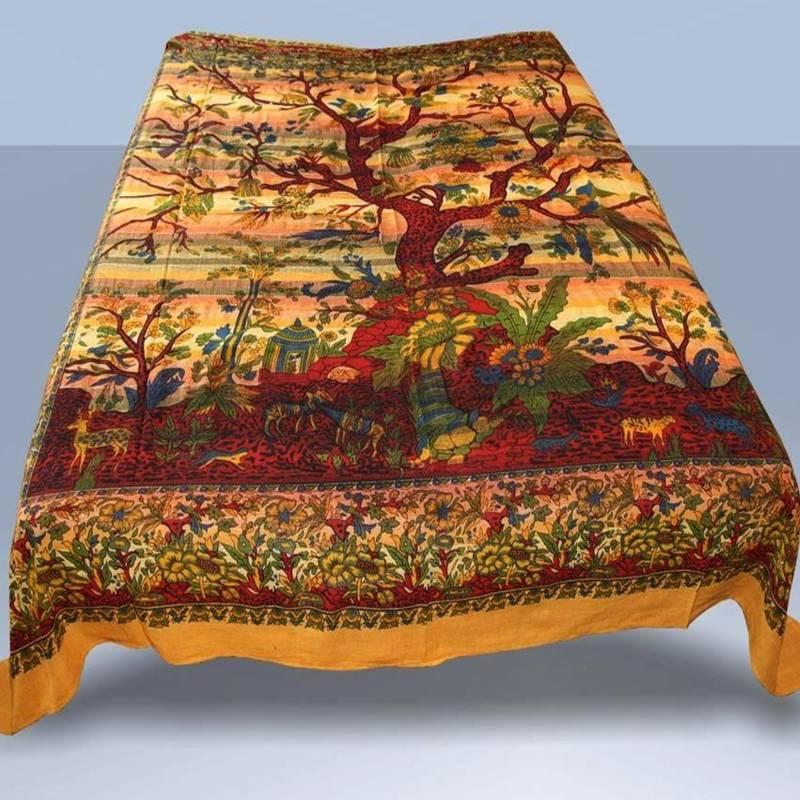 tagesdecke lebensbaum wandbehang dekotuch baum des lebens. Black Bedroom Furniture Sets. Home Design Ideas
