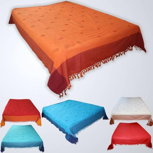 tagesdecke bett berwurf nepal classic edles webmuster baumwolle berwurf decke ebay. Black Bedroom Furniture Sets. Home Design Ideas