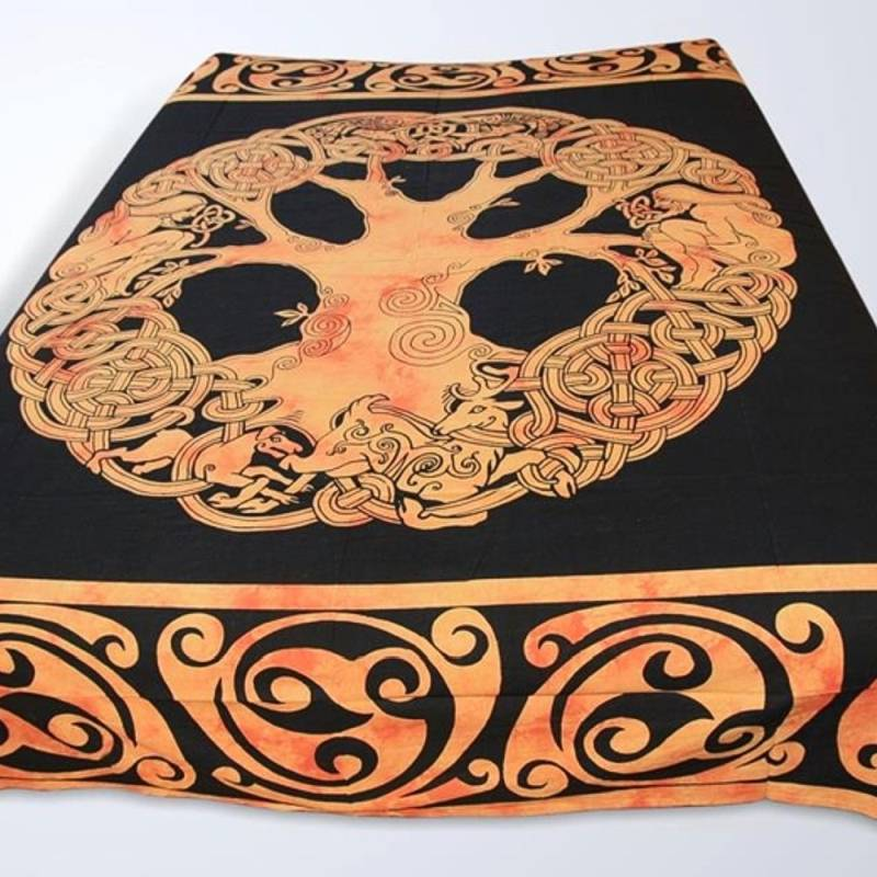 tagesdecke bett berwurf celtic tree batik yggdrasil decke. Black Bedroom Furniture Sets. Home Design Ideas